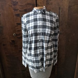 J.Crew Flannel Button Down Top NWT